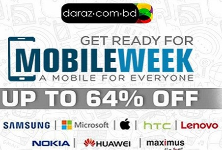 Daraz BD Mobile Week 2016 – Get Up To 64% Discounts