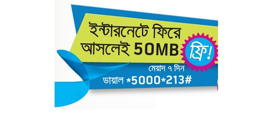 GP 50 MB Free Internet offer