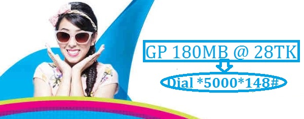 GP 180 MB Internet 28 TK