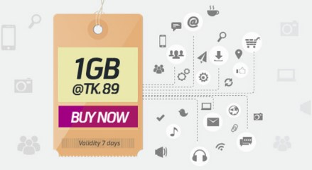 GP 1GB Internet 89 TK Offer
