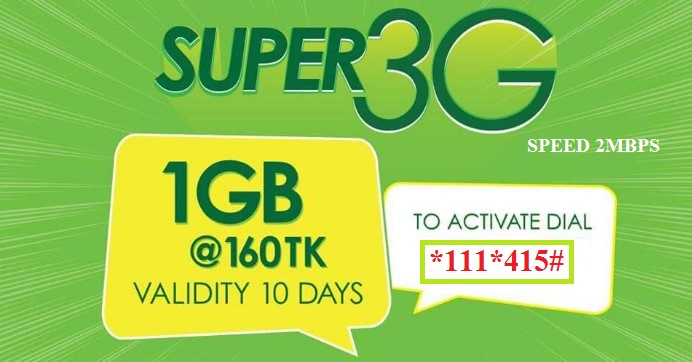 Teletalk 1GB Internet 160 TK Offer