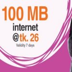 Banglalink 100 MB Internet 26 TK Offer