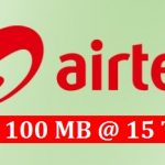 Airtel 100 MB Internet 15 TK Offer
