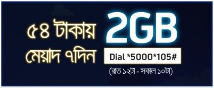 GP 2 GB Night Pack Internet 54 TK 2017 Offer