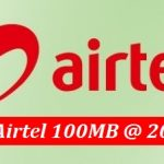 Airtel 100 MB Internet 20 TK Offer with Validity 7 Days