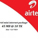 Airtel 45 MB Internet 10 TK Offer