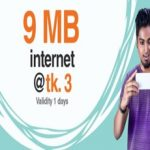 Banglalink 9 MB Internet 3 TK Offer