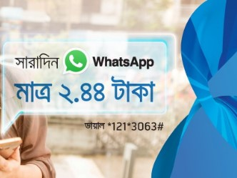 GP Whatsapp Messaging Pack 20 MB Internet 2 TK Offer 2017