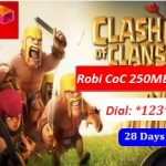 Robi Clash of Clans 250 MB Internet Pack 28 TK Offer with 28 Days Validity