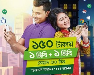 Teletalk 2GB 150 TK 30Days Validity Internet Offer 2017
