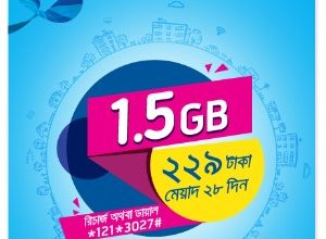 GP 1.5GB 229 TK Internet Offer 2017 (28 Days Validity)