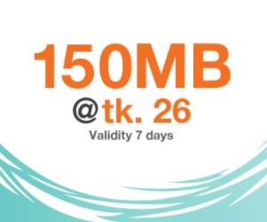 Banglalink 150 MB 26 TK Recharge Internet Offer