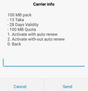 Airtel BD 100 MB Validity 28 Days at 13 TK Offer