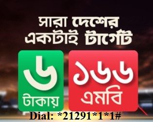 Robi 166MB 6 TK Offer