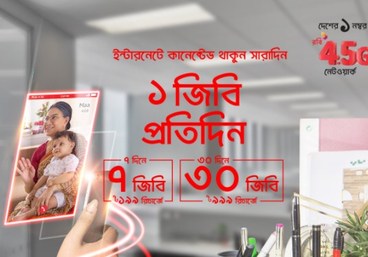 Robi Daily 1GB Promise Internet Offer