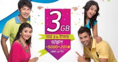 Grameenphone 3GB Internet 49TK