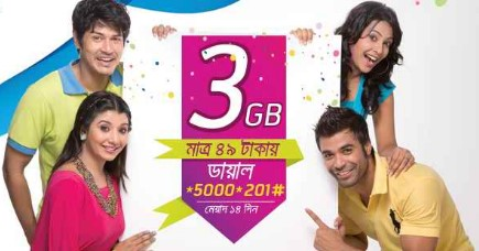 Grameenphone 3GB Internet 49TK