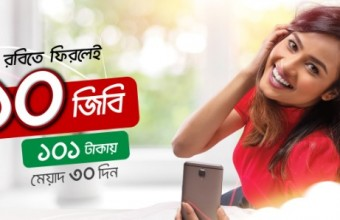 Robi Bondho SIM Offer June, 2018 – 10GB Internet Offer