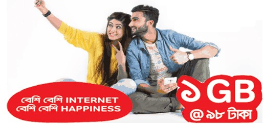 Airtel 1GB Internet 98TK Offer