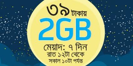 GP 2GB Night Pack Internet 39TK Offer