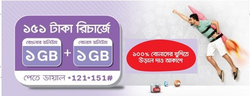 Airtel 2GB Internet 151TK Offer