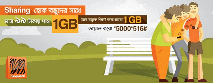 Banglalink 2GB Internet 99TK Friendship Day Offer