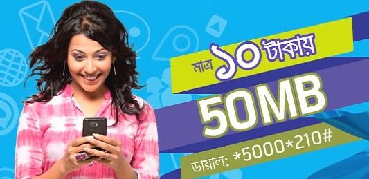 GP 50MB Internet 10TK Offer