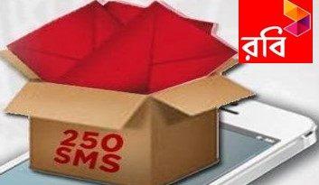Robi 250 SMS 15 TK
