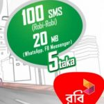 Robi 5 TK 100 SMS with 20MB Facebook