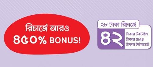 Airtel 28 TK Recharge Bonus offer