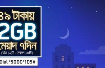 GP 2GB Night Pack Internet 49 TK Offer
