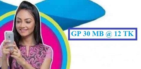 GP 30 MB Internet 12 TK Offer