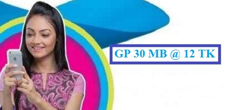 GP 30 MB Internet 12 TK