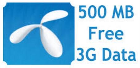 GP 500 MB Free Internet Data Offer