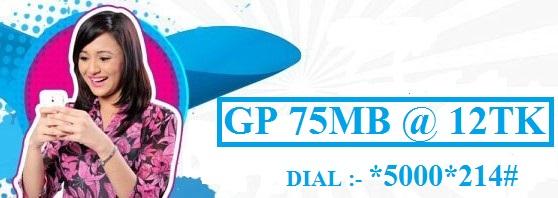 GP 75 MB Internet 12 TK Offer