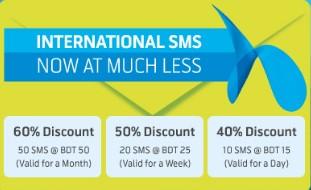 GP International SMS Package