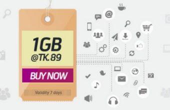 GP 1GB Internet 89 TK Offer