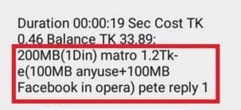 Robi 200 MB Internet 1.2 TK Offer