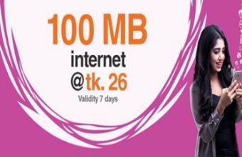 Banglalink 100 MB Internet 26 TK Offer