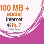 Banglalink 100 MB Social Internet 7 TK Offer