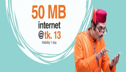 Banglalink 50 MB Internet 13 TK Offer