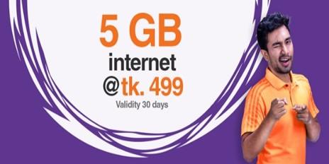 Banglalink 5GB Internet 499 TK Offer