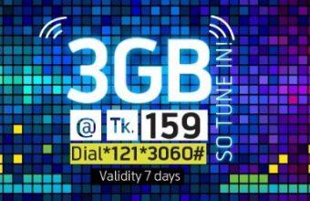 GP 3GB Internet 159 TK Offer