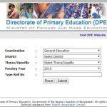 PSC Result 2016 Check Online www.dperesult.teletalk.com.bd