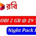 Robi Night Pack 2GB Internet 29 TK Offer