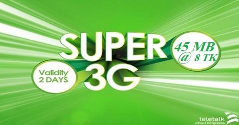 Teletalk 45 MB Internet 8 TK Offer
