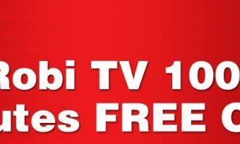 Robi TV 100 Minutes Free Offer