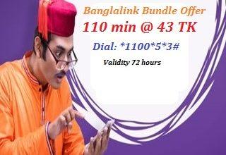 Banglalink 110 Minutes 43 TK Offer