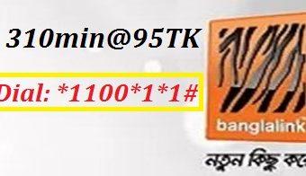 Banglalink 310 Minutes 95 TK Offer