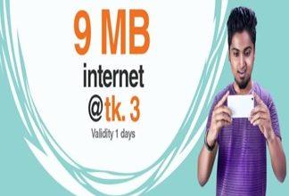 Banglalink 9 MB Internet 3 TK Offer